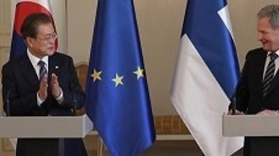 """한·핀란드 정상 공동기자회견…""""대화 계속 위한 대화 이뤄지고 있어"""""""